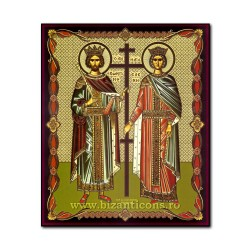 1861-011 Icoana ruseasca mdf 20x24 Sf Constantin si Elena