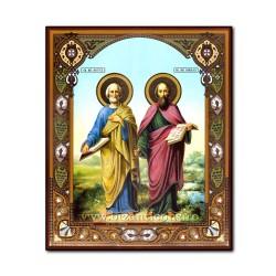 1861-723 Icoana ruseasca mdf 20x24 Sf Petru si Pavel