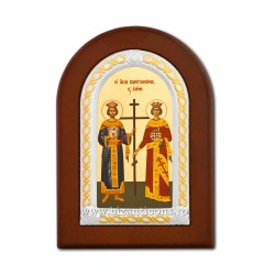 Icoana foita lemn Sf Constantin si Elena 10x14 TM 30-011