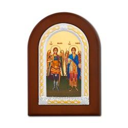 Icoana foita lemn Sf Mihail si Gavril 10x14 TM 30-033