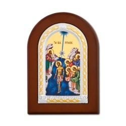 Icoana foita lemn Botezul Domnului 10x14 TM 30-207
