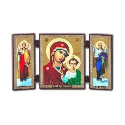 181-904 Triptic lemn 13x7,3 MD Kazan - bizantin 11buc/cutie