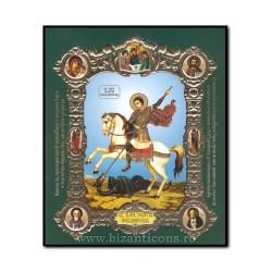 Icoana pe lemn - Sfantul Mare Mucenic Gheorghe 15x18 cm