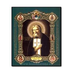 Icoana pe lemn - Sfantul Serafim de Sarov 15x18 cm