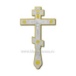 CRUCE Bin. 26cm - ruseasca - argintata si aurita D 101-19SG