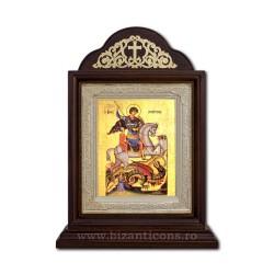 Икона Ковчег деревянный 18x25 Святого Георгия ICR20-010