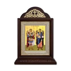 Το εικονίδιο στην Κιβωτό από ξύλο, 18x28 του Αγίου Μιχαήλ και Γαβριήλ ICR20-033