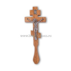 6-65 Cross-Wise To Do So. - wood-carved - Jesus-metal-70/box