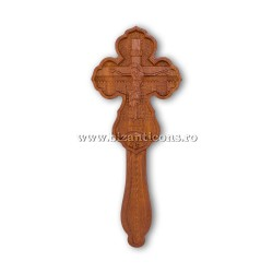6-360 Cross-Wise To Do So. wood-carved-2p - an average of 18.5 cm.