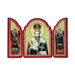 1815-009 SPLIT the wood 10X14 St Nicholas 100/box