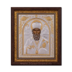 The ICON of the frame 29x31 of St. Nicholas EP515-009