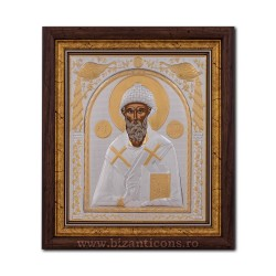The ICON of the frame 29x31 of St. Spyridon EP515-012