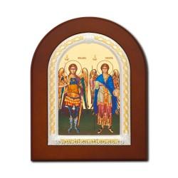 Icoana foita lemn Sf Mihail si Gavril 15,5x21,5 TM 40-033