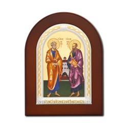 Icoana foita lemn Sf Petru si Pavel 15,5x21,5 TM 40-431