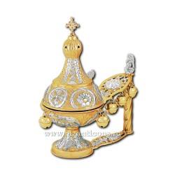 CADELNITA MANA arhiereasca aurita si argintata - X65-590