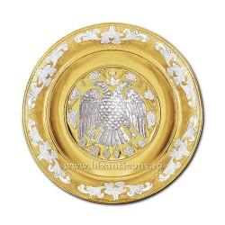 DISC gravat 36cm aurit si argintat vultur - X68-620
