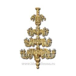POLICANDRU bronz 80 becuri aurit - X86-740 / 77-515