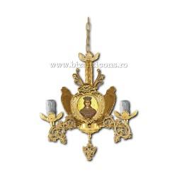 Policandru din bronz - aurit - 3 becuri X93-762 / X 79-521