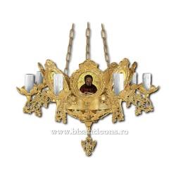 Policandru din bronz - aurit - 9 becuri X93-766 / X 79-525