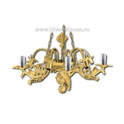 POLICANDRU bronz aurit - dragoni - 12 becuri X82-536