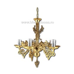 Policandru din bronz - aurit - 5 becuri X94-773 / X 82-539