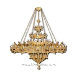 Candelabru cu Horos - aurit 134 becuri