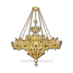 Candelabru cu Horos - aurit 95 becuri