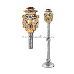 Candela imparateasca - aurita si argintata - email - X106-878 / 93-337