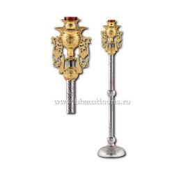 CANDELA imparateasca aurita si argintata - X106-885 / 93-643