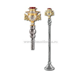 CANDELA imparateasca aurita si argintata - X106-881