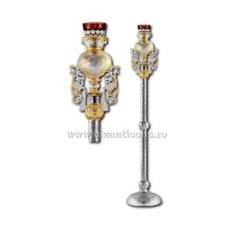 CANDELA imparateasca aurita si argintata - X106-883