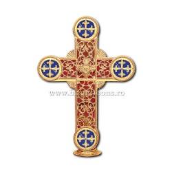 CRUCE biserica cu bec aliaj aurit - X116-966