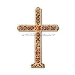 CRUCE biserica cu bec aliaj aurit - X116-969