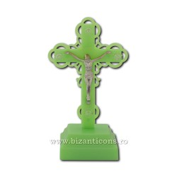 The cross in the plastic with a light - phosphor - 18,5 cm.