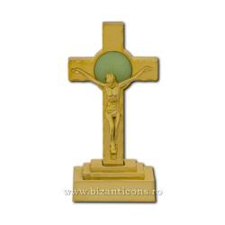 41-37Au cruce plastic auriu 13,5x6,5cm 240/bax
