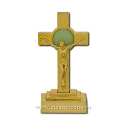 The cross in the plastic with a bulb - 13.5 cm