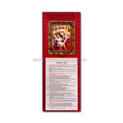 CALENDAR perete CLASIC 17x45 MD Axionita - rosu CP20-022 100/set