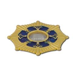 105-10AB в поле Св. петра. Moaste с внутренней резьбой - золотисто - голубой эмалью - 7x1,2 см 10/комплект