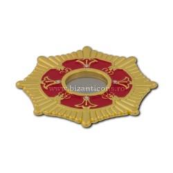 105-10R поле Св. петра. Moaste резьба - желтая - эмаль-красный - 7x1,2 см 10/комплект