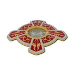 105-17R, в поле Св. петра. Moaste резьба - желтая - эмаль-красный - 7x1,2 см 10/комплект