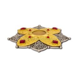 105-18SG caseta Sf. Moaste cu filet - auriu + argintiu - 10x1,2cm