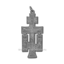 6-140Ag cross metal silver wall - mount 12cm 100/box