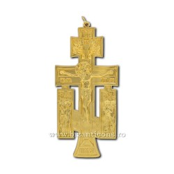 6-140Au-cross metal gold wall - mount 12cm 100/box
