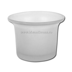 39-2 стакана лампада - небольшой, МАТОВЫЙ белый, 210/коробка