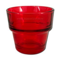39-3R стакан, средний, большой, 7h 6,8, d - КРАСНЫЙ, ярко-120/160/коробка
