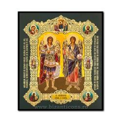 Икона на дереве - Святых Архангелов Михаила и Гавриила 15x18 см