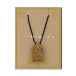24-132R ожерелье, нить + медальон дерево MD-12/комплект