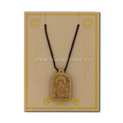 The 24-132R-necklace-ata + inset wood, MD, 12/set