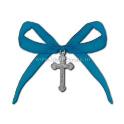 Η 35-5Ab σταυρός βάπτισης - η κορδέλα μπλε, 50/τσάντα