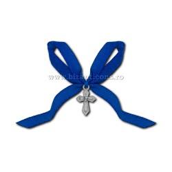 35-6Ab кресты на крещение - лента, синий 50/мешок